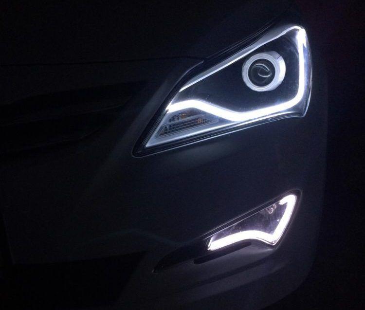 Хендай Солярис - ремонт и замена лампочек и фар