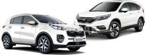 Сравнить Хонда СРВ и Киа Спортейдж 2016 фото видео обзор