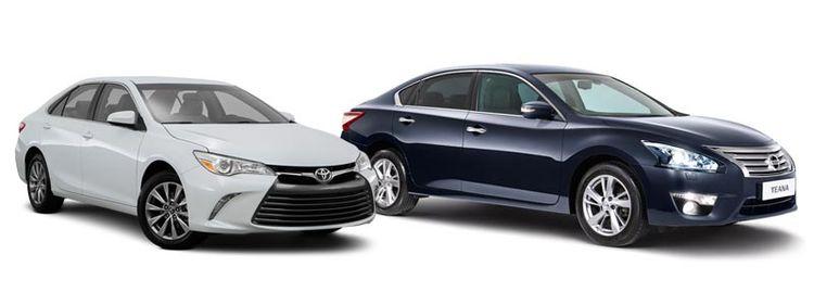 Доработанные Тойота Камри и Ниссан Теана 2017 года