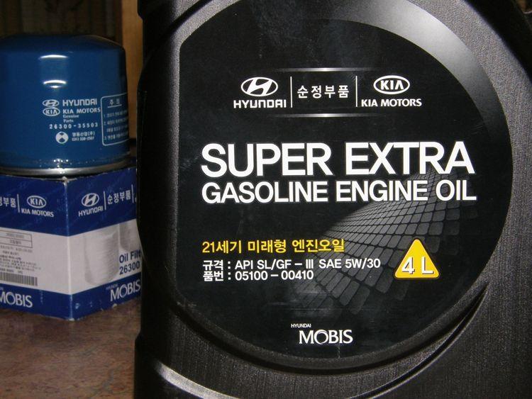 Замена масла в двигателе Hyundai Solaris