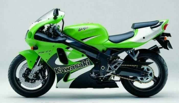 Мотоцикл Kawasaki ZX-7R идеален на гоночном треке